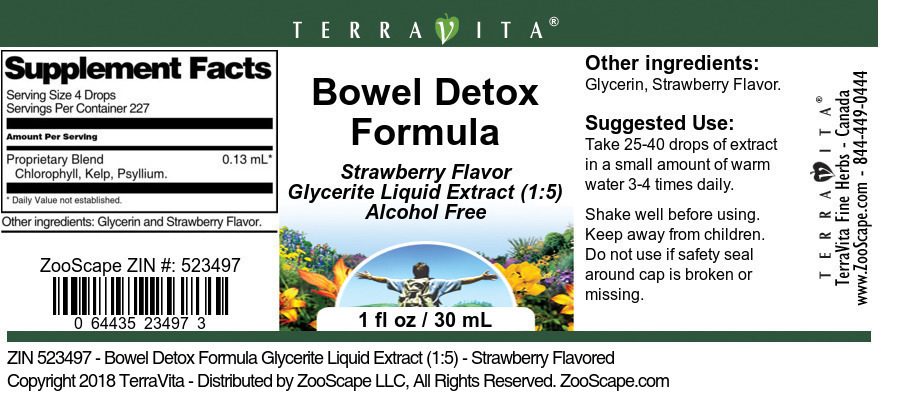 Bowel Detox Formula Glycerite Liquid Extract (1:5)