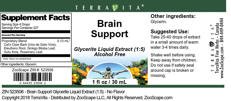 Brain Support Glycerite Liquid Extract (1:5)