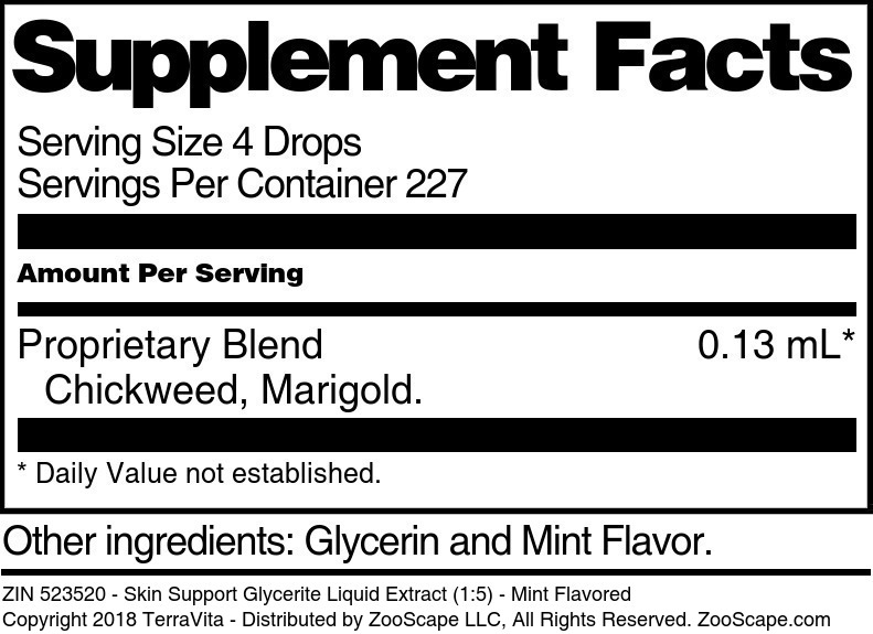 Skin Support Glycerite Liquid Extract (1:5)