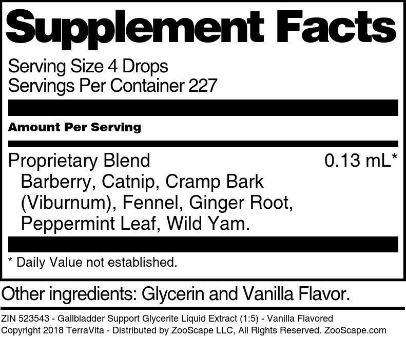 Gallbladder Support Glycerite Liquid Extract (1:5)