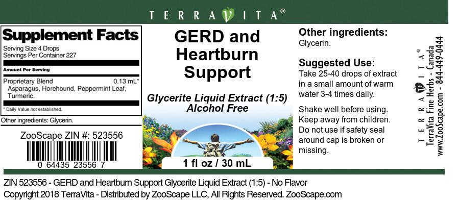 GERD and Heartburn Support Glycerite Liquid Extract (1:5)