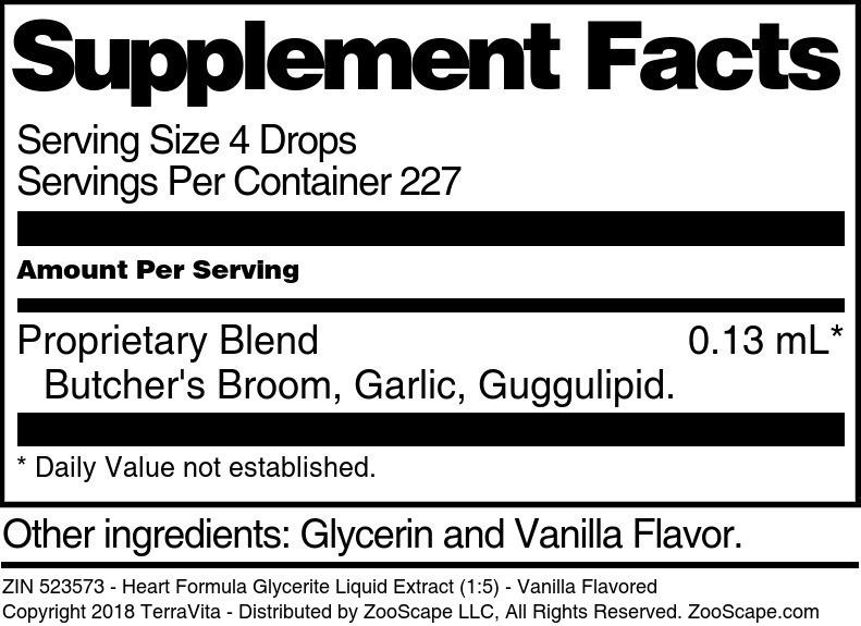 Heart Formula Glycerite Liquid Extract (1:5)