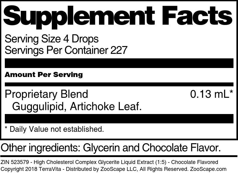 High Cholesterol Complex Glycerite Liquid Extract (1:5)
