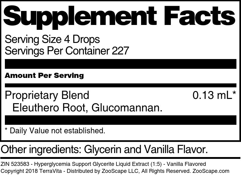 Hyperglycemia Support Glycerite Liquid Extract (1:5)