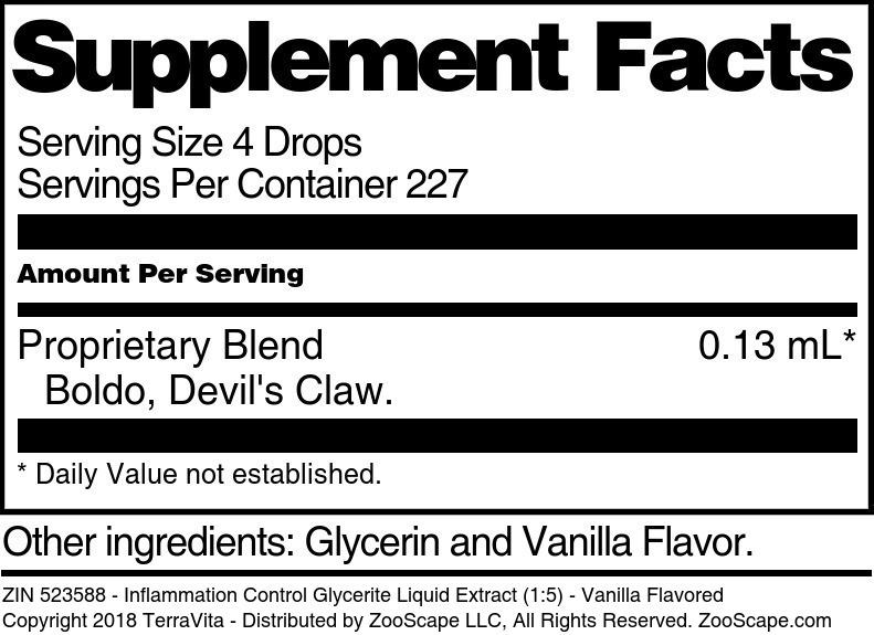 Inflammation Control Glycerite Liquid Extract (1:5)