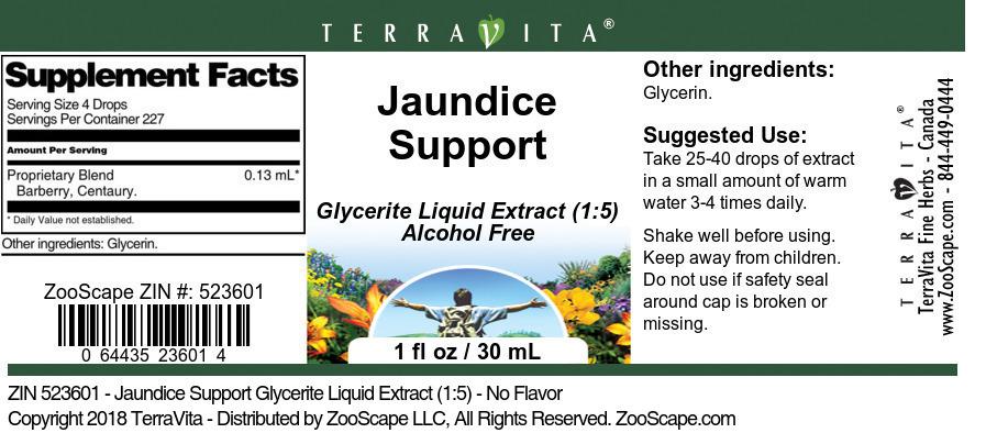 Jaundice Support Glycerite Liquid Extract (1:5)