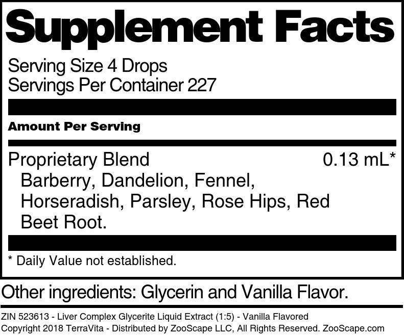 Liver Complex Glycerite Liquid Extract (1:5)