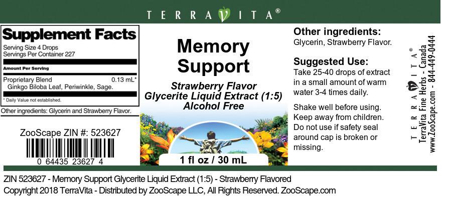 Memory Support Glycerite Liquid Extract (1:5)