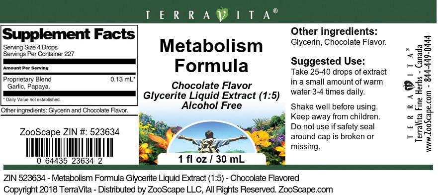 Metabolism Formula Glycerite Liquid Extract (1:5)