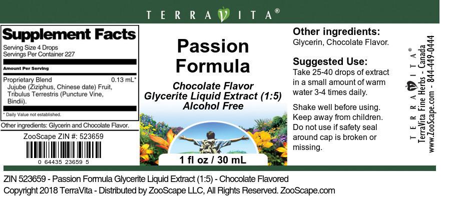 Passion Formula Glycerite Liquid Extract (1:5)
