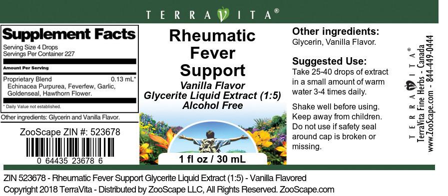 Rheumatic Fever Support Glycerite Liquid Extract (1:5)