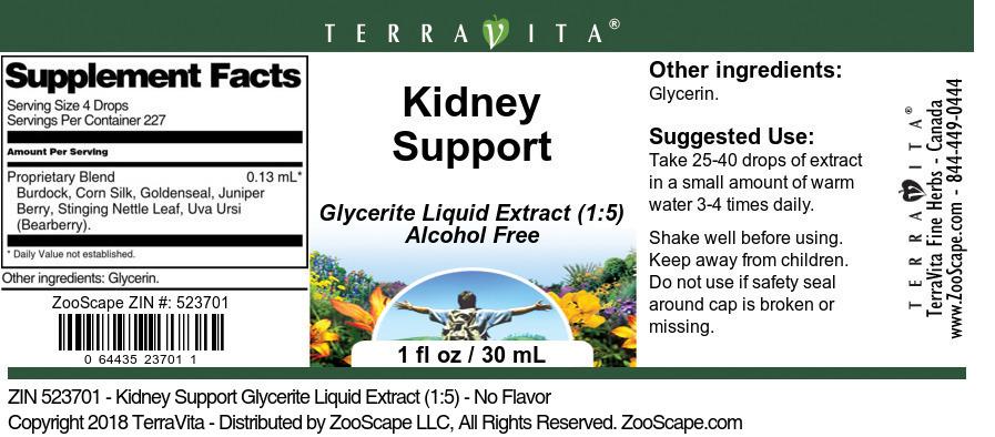 Kidney Support Glycerite Liquid Extract (1:5)