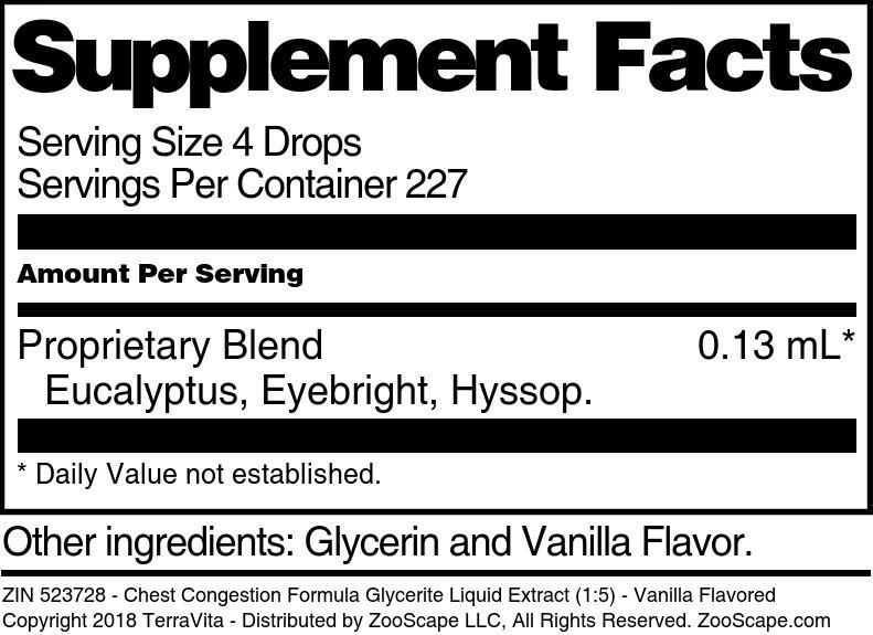 Chest Congestion Formula Glycerite Liquid Extract (1:5)