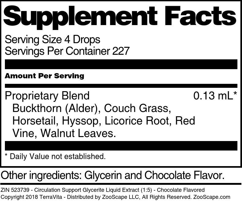 Circulation Support Glycerite Liquid Extract (1:5)