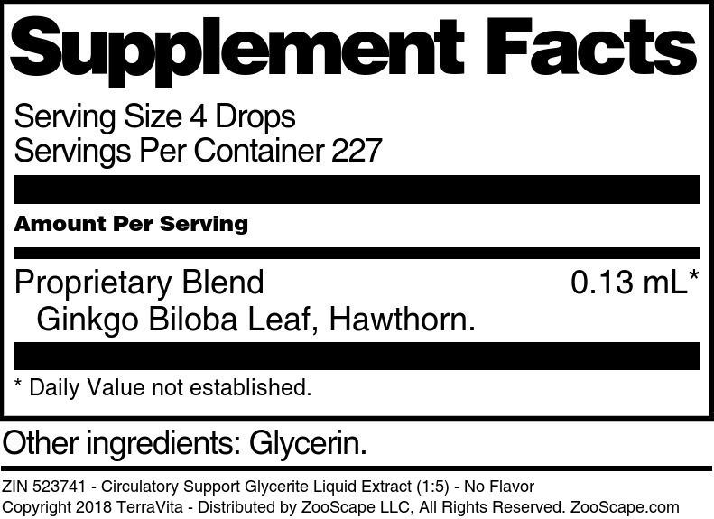 Circulatory Support Glycerite Liquid Extract (1:5)