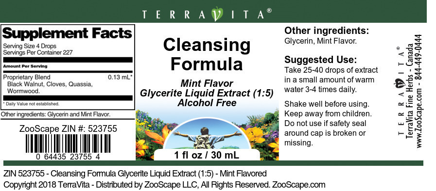 Cleansing Formula Glycerite Liquid Extract (1:5)