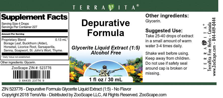 Depurative Formula Glycerite Liquid Extract (1:5)