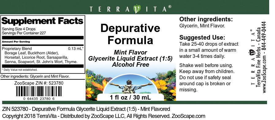 Depurative Formula