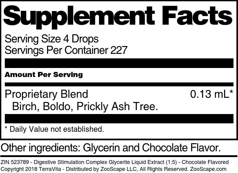 Digestive Stimulation Complex Glycerite Liquid Extract (1:5)
