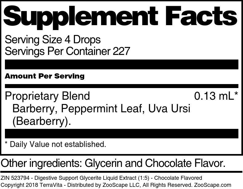 Digestive Support Glycerite Liquid Extract (1:5)