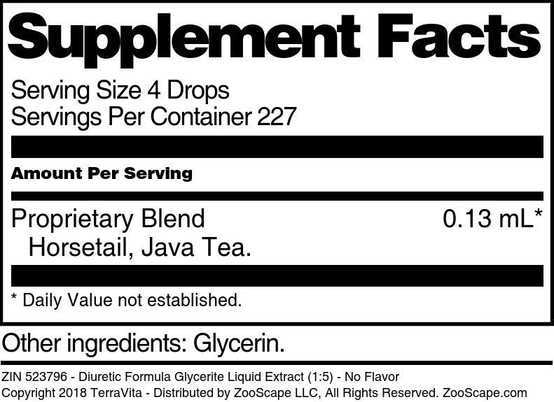 Diuretic Formula Glycerite Liquid Extract (1:5)