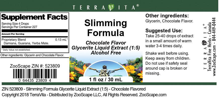 Slimming Formula Glycerite Liquid Extract (1:5)
