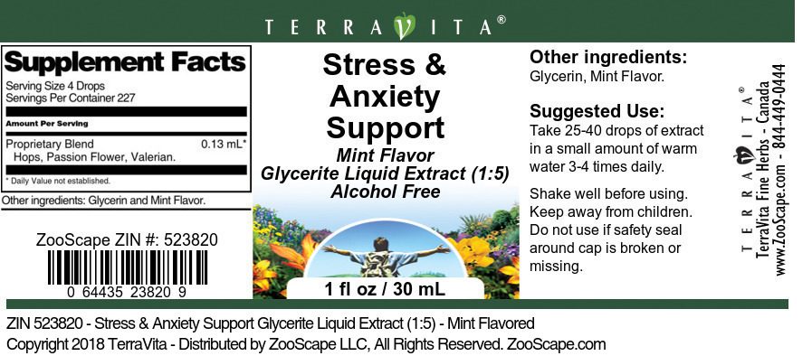 Stress & Anxiety Support Glycerite Liquid Extract (1:5)