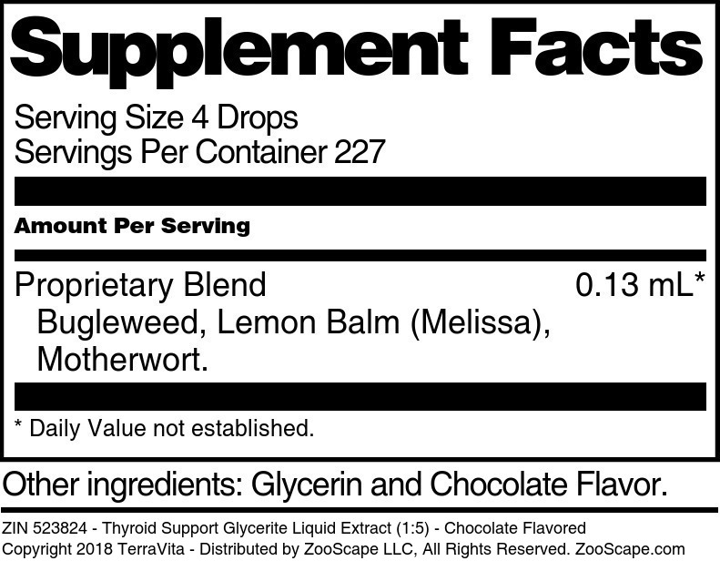 Thyroid Support Glycerite Liquid Extract (1:5)
