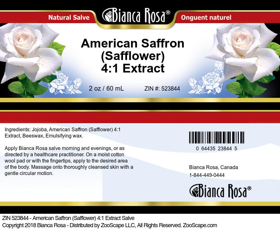 American Saffron (Safflower) 4:1 Extract Salve