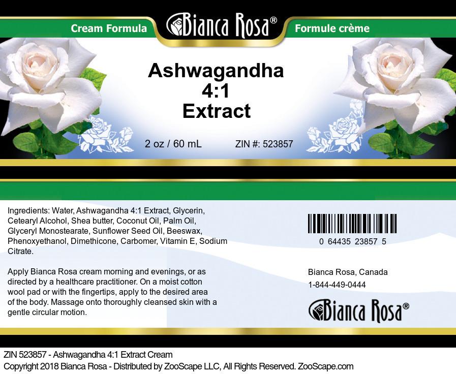 Ashwagandha 4:1 Extract Cream