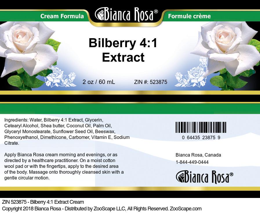 Bilberry 4:1 Extract Cream
