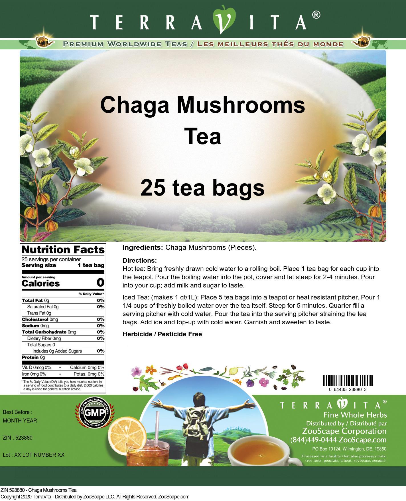 Chaga Mushrooms Tea