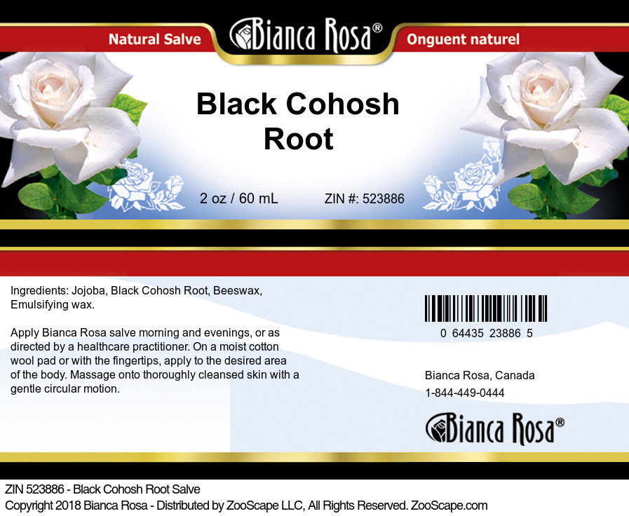 Black Cohosh Root Salve