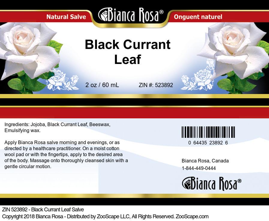 Black Currant Leaf Salve