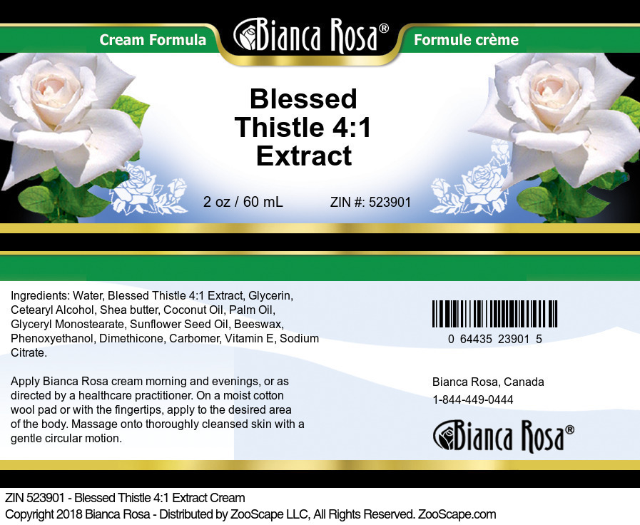 Blessed Thistle 4:1 Extract Cream