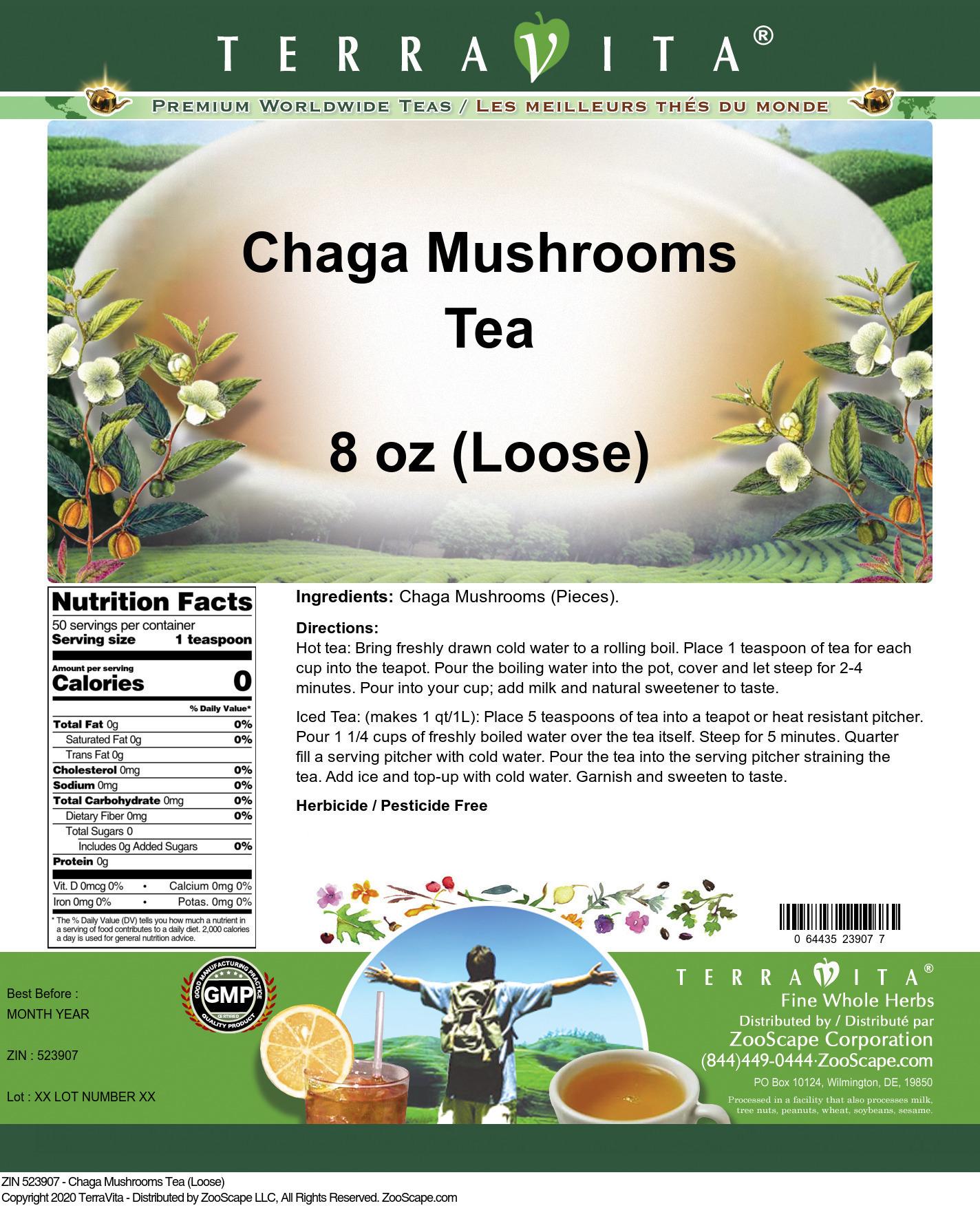 Chaga Mushrooms Tea (Loose)