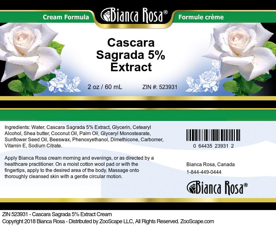 Cascara Sagrada 5% Extract Cream