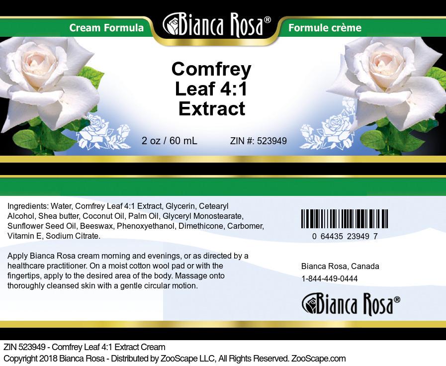 Comfrey Leaf 4:1 Extract Cream