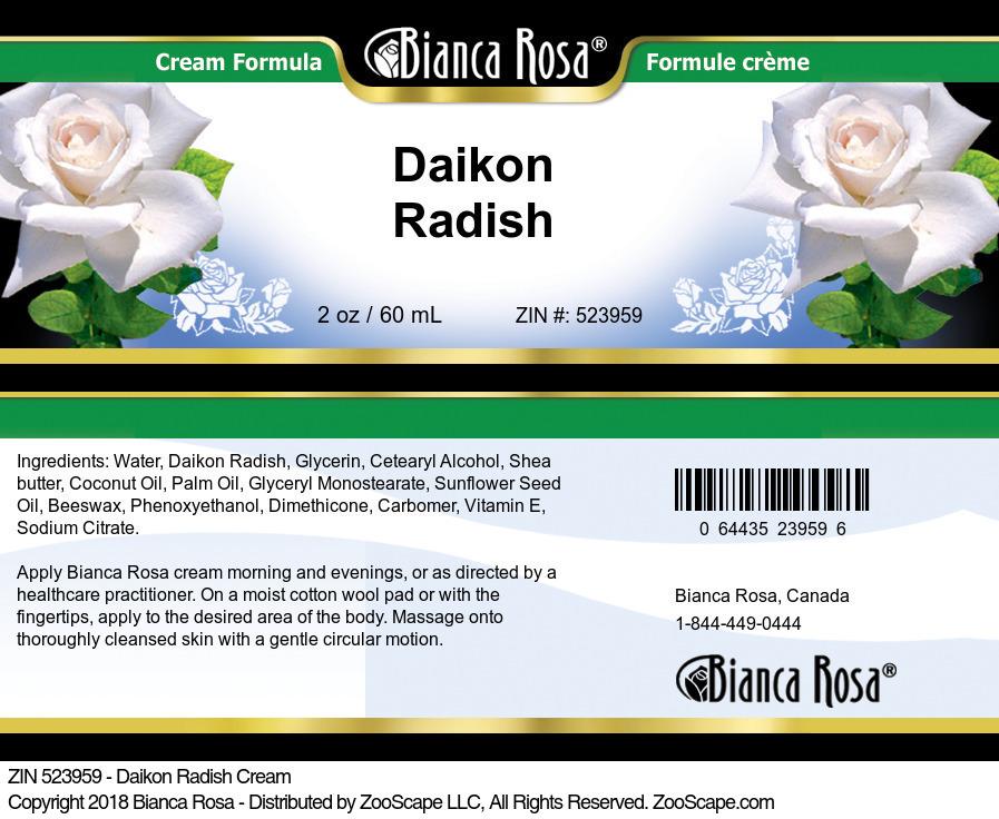 Daikon Radish Cream