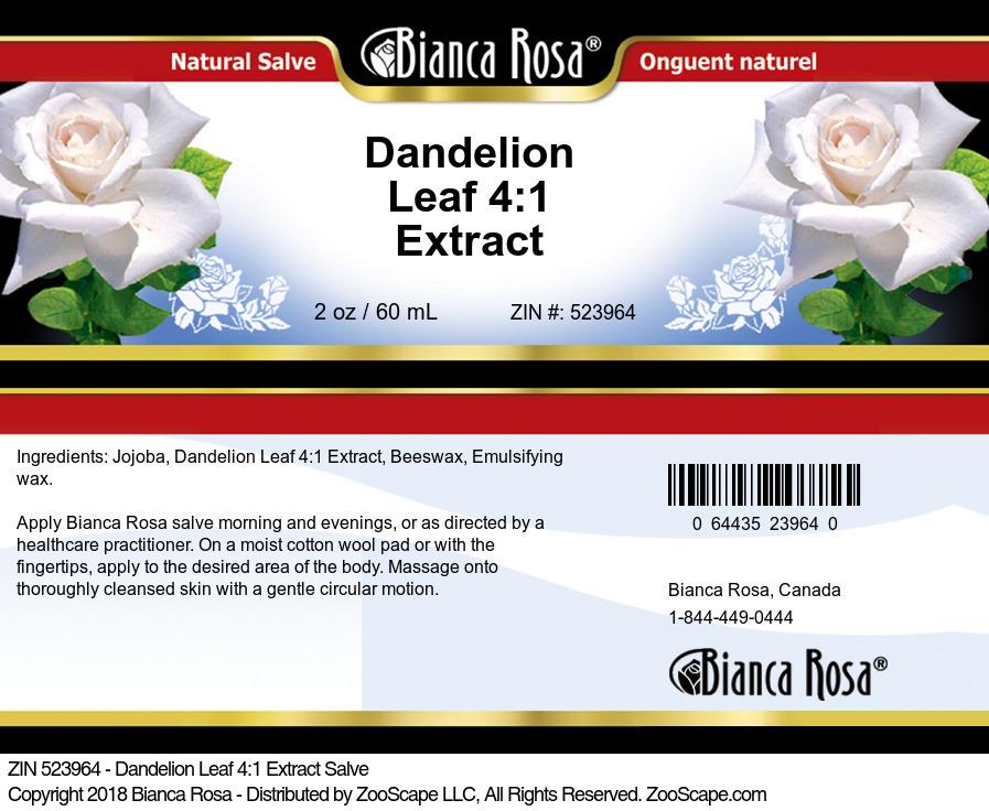 Dandelion Leaf 4:1 Extract Salve