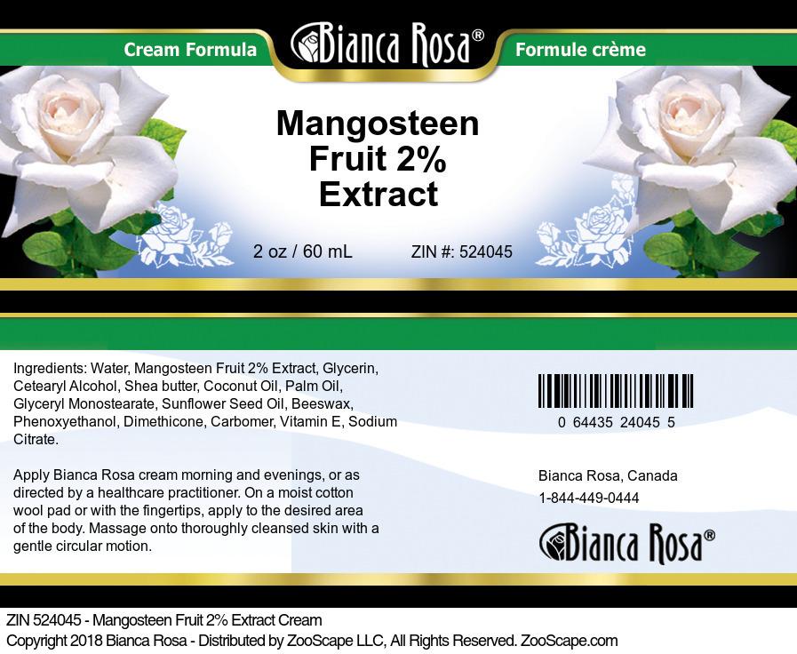 Mangosteen Fruit 2% Extract Cream
