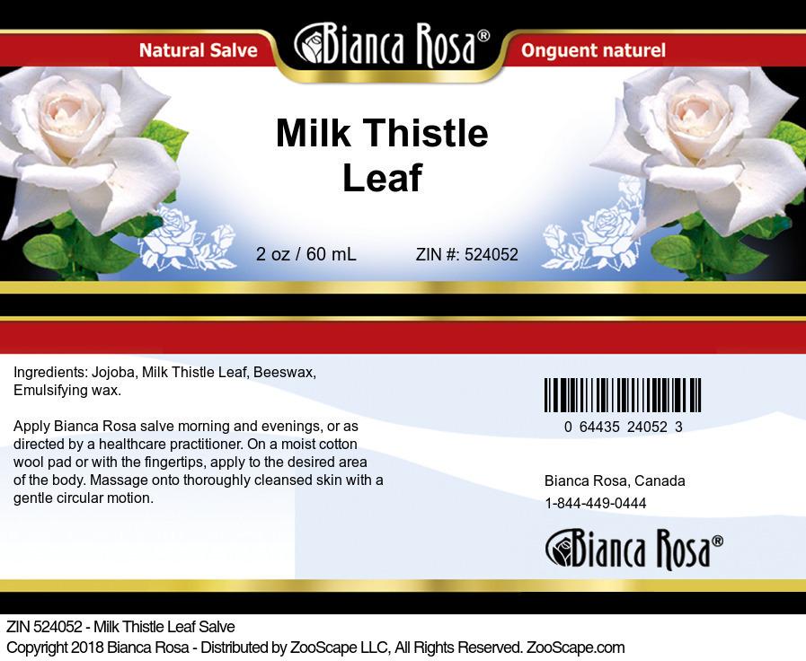 Milk Thistle Leaf Salve