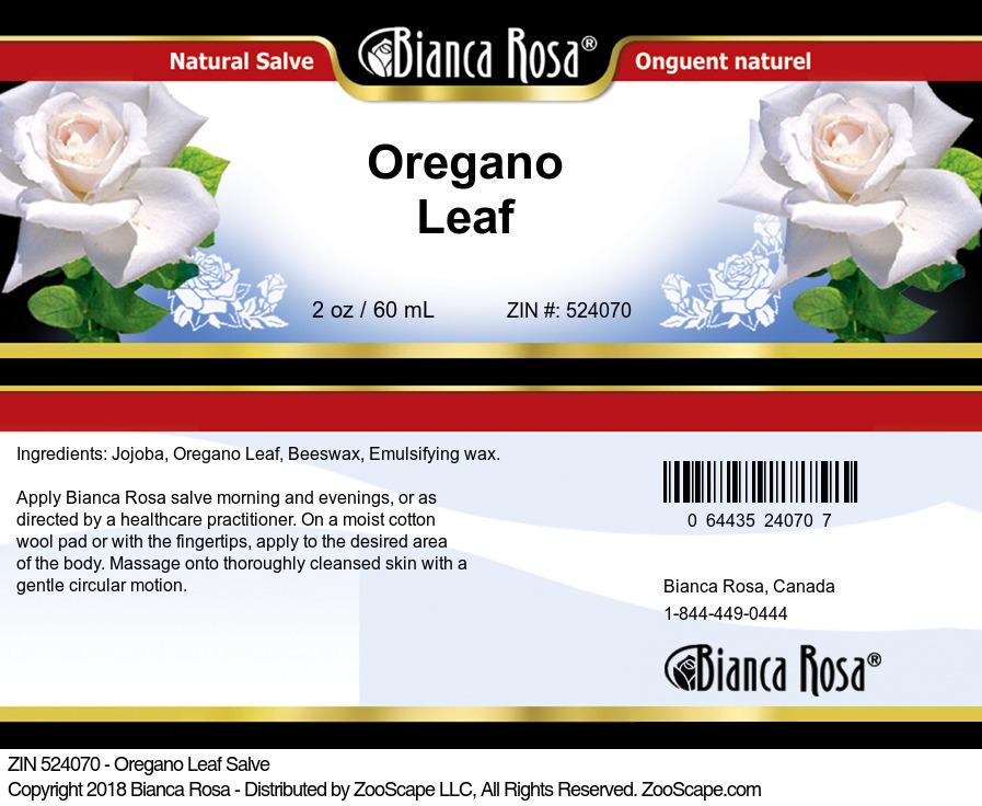 Oregano Leaf Salve