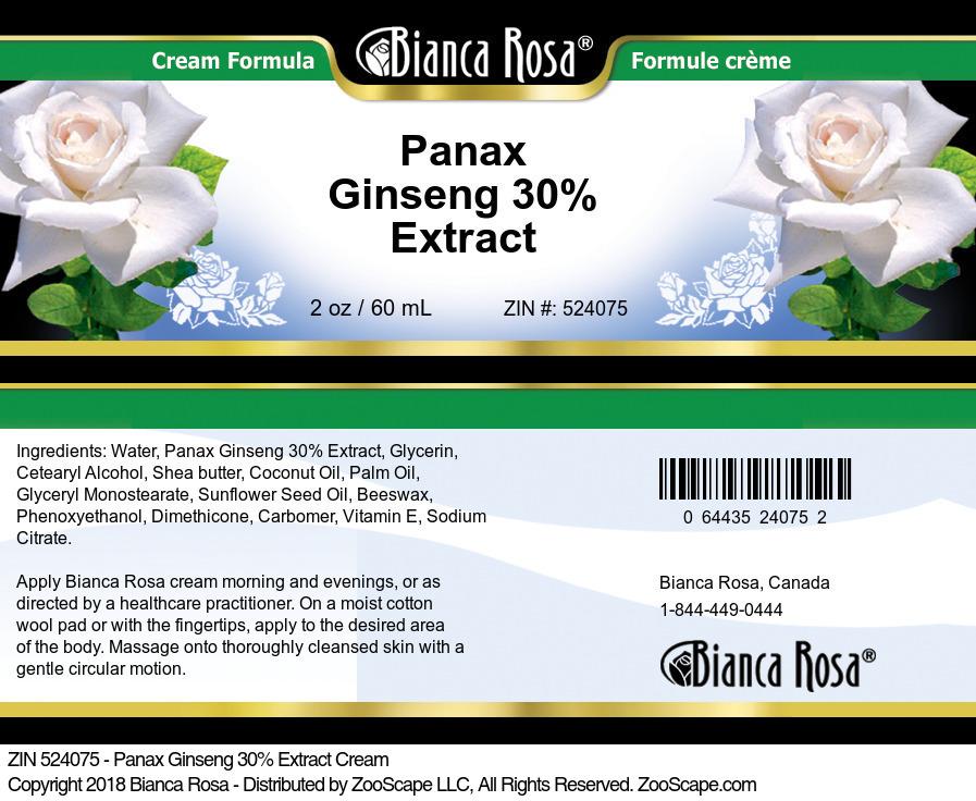 Panax Ginseng 30% Extract Cream