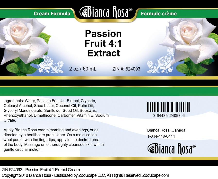 Passion Fruit 4:1 Extract Cream