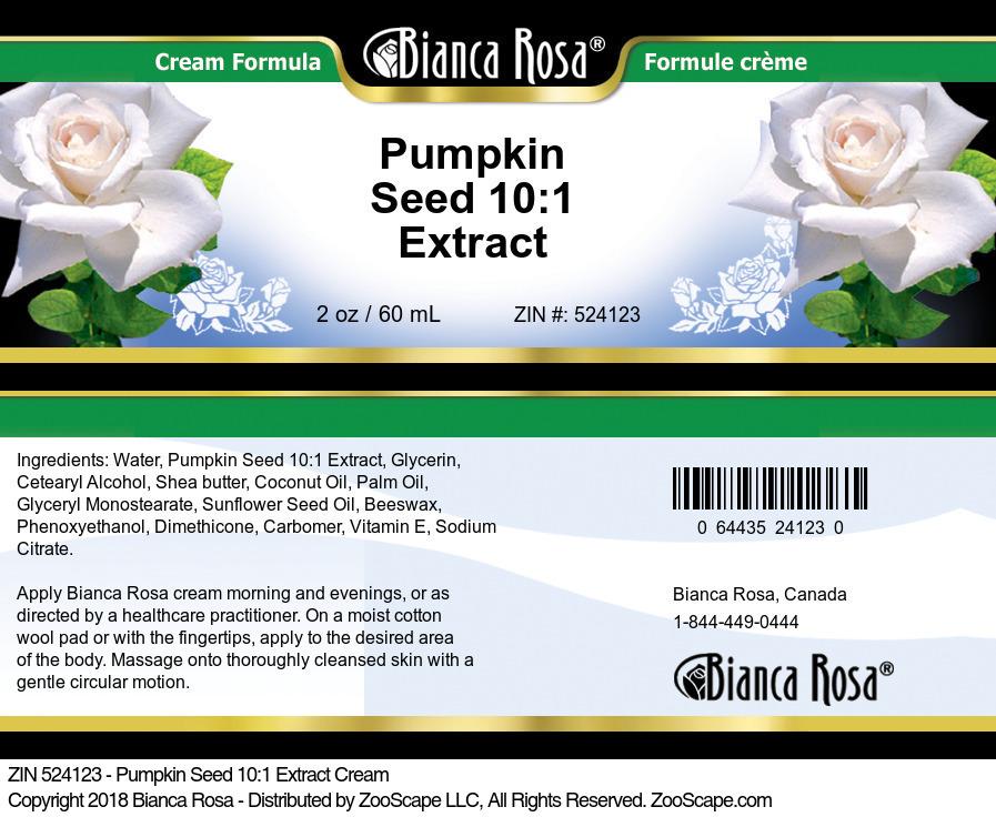 Pumpkin Seed 10:1 Extract Cream