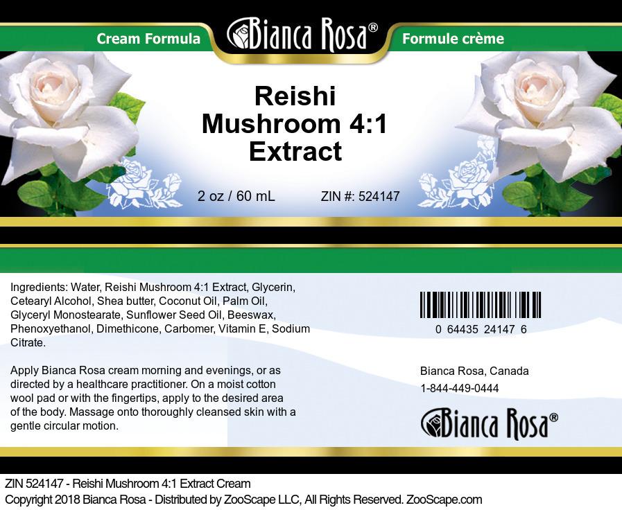 Reishi Mushroom 4:1 Extract Cream