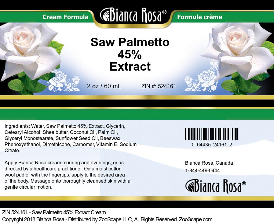 Saw Palmetto 45% Extract Cream