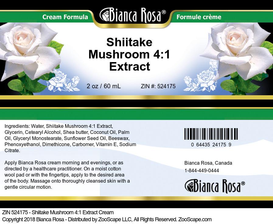 Shiitake Mushroom 4:1 Extract Cream