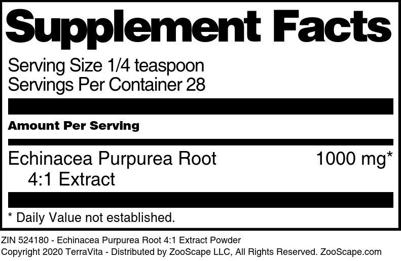 Echinacea Purpurea Root 4:1 Extract Powder